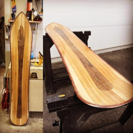 Shaping Franco snowboard