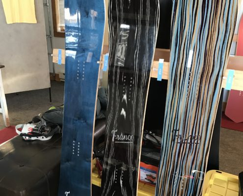 Tailor made Franco snowboards