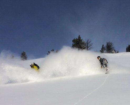 Mikey Franco and Don Watkins, Twin Slides, Teton Pass P-Sam Petri